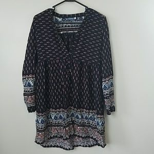 Earthbound Trading Co Boho Print Tunic
